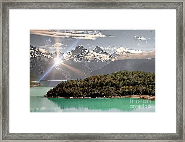 Alaskan Mountain Reflection Framed Print