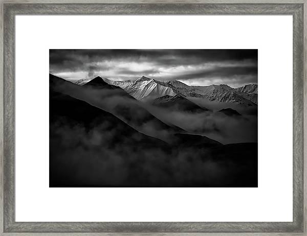 Alaskan Peak In The Shadows Framed Print