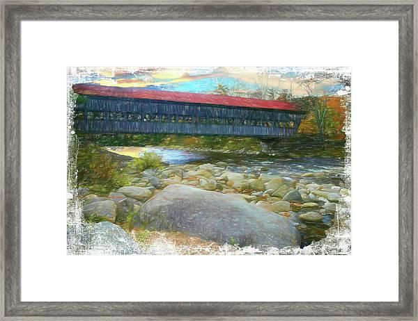 Albany Covered Bridge Nh. Framed Print