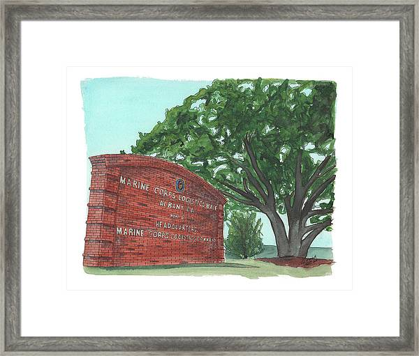 Albany Logistics Base Welcme Framed Print