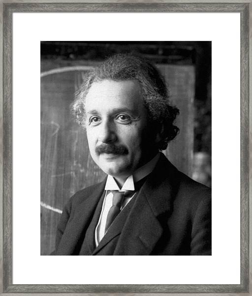 Albert Einstein Nel 1921 Framed Print