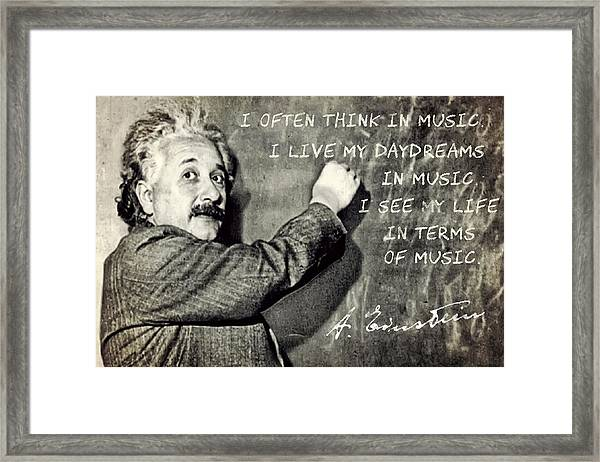 Albert Einstein, Physicist Who Loved Music Framed Print