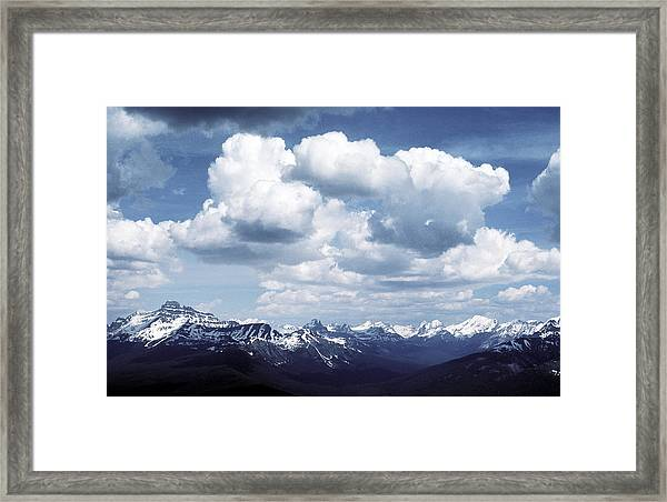 Alberta Mountain Panorama Framed Print