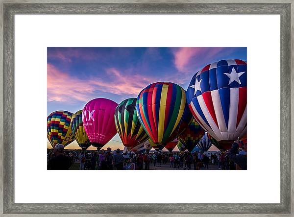 Albuquerque Hot Air Balloon Fiesta Framed Print