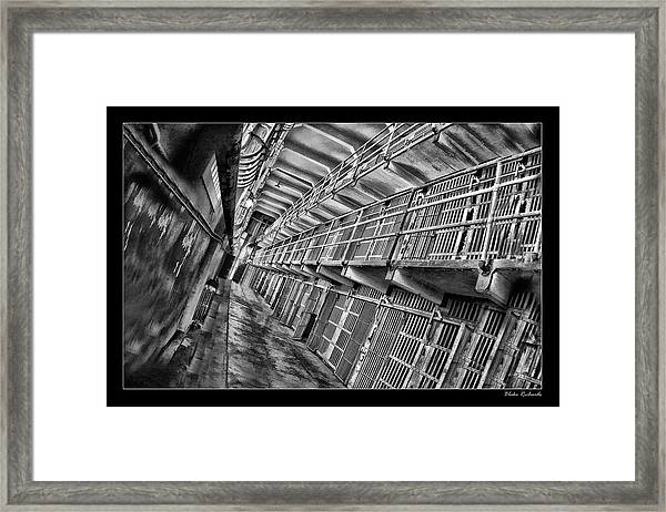 Alcatraz The Cells Framed Print
