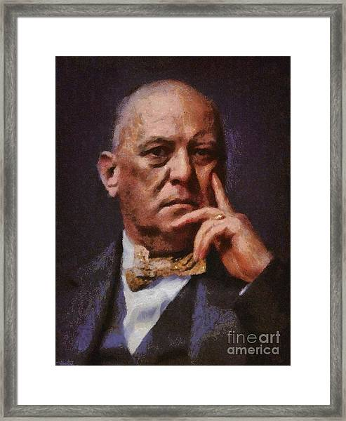 Aleister Crowley, Infamous Occultist Framed Print
