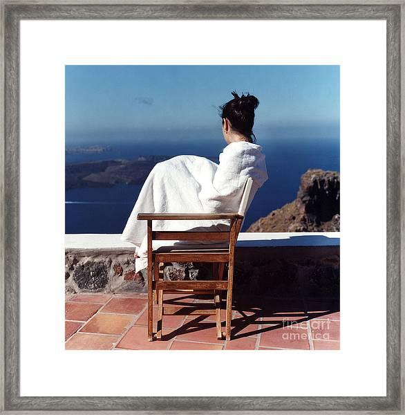 Alexis In Santorini IIi Framed Print by Andrea Simon