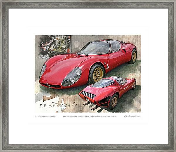 1967 Alfa Romeo 33 Stradale Framed Print