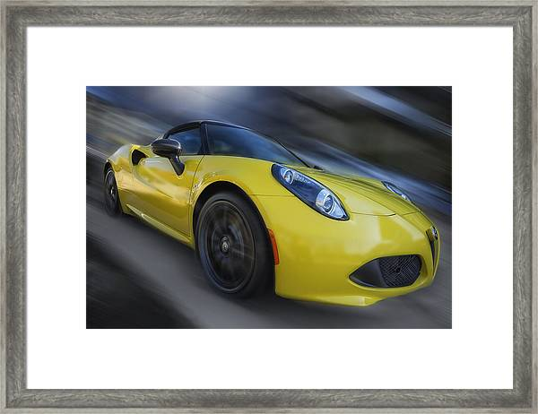Alfa Romeo 4c Spider Framed Print by Larry Helms