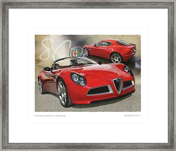 Alfa Romeo 8c Competizione Framed Print