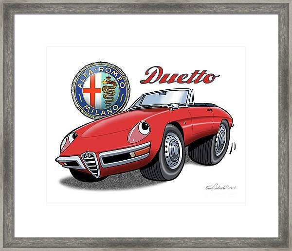 Alfa Romeo Duetto Cartoon Framed Print