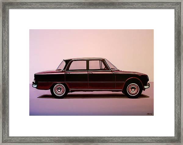 Alfa Romeo Giulia Super 1967 Painting Framed Print