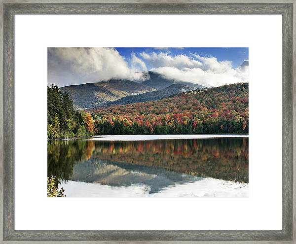 Algonquin Peak From Heart Lake - Adirondack Park - New York Framed Print by Brendan Reals