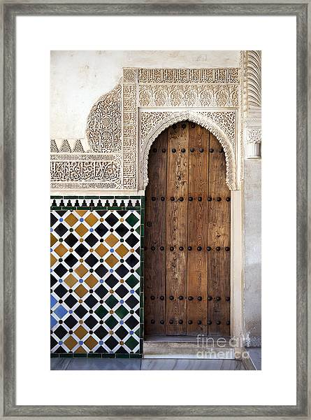 Alhambra Door Detail Framed Print