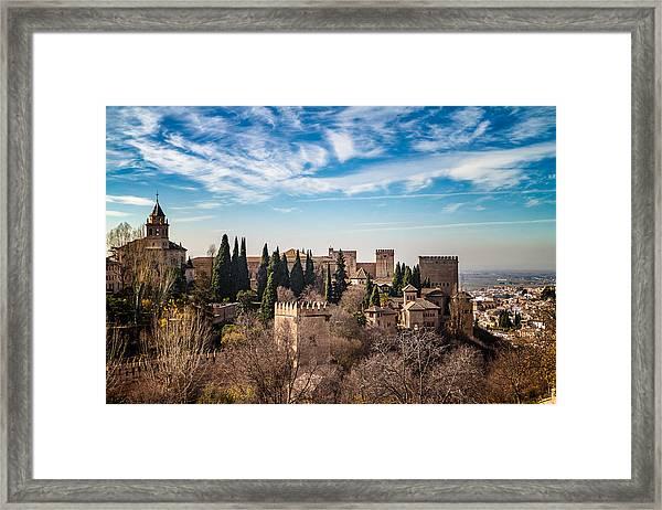 Alhambra Over Granada Framed Print