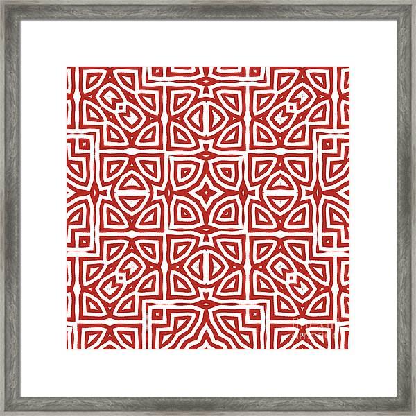 Alhambra Red Framed Print
