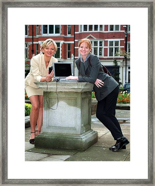 Alice And Patsy Framed Print by Jez C Self