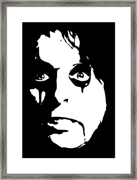 Alice Cooper Pop Art Framed Print