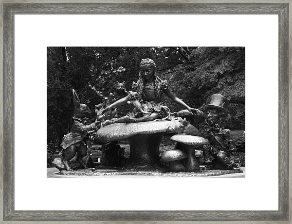 Alice In Wonderland Sculpture Central Park Framed Print