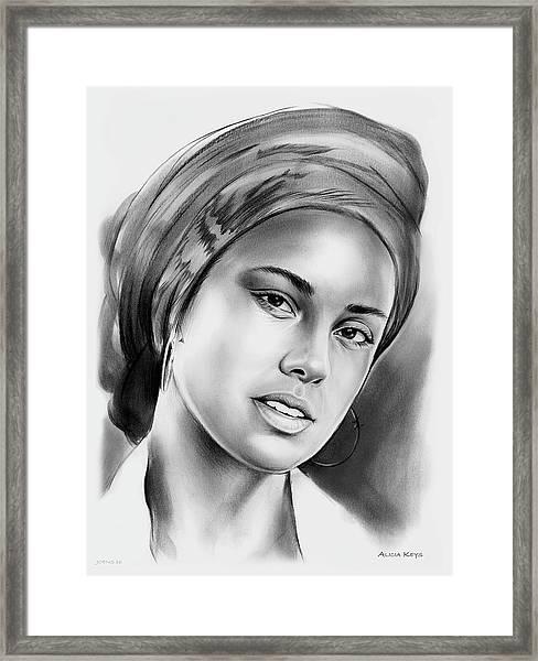 Alicia Keys 2 Framed Print
