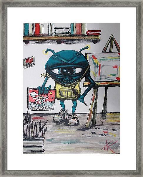 Alien Artist Framed Print