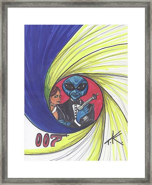 alien Bond Framed Print