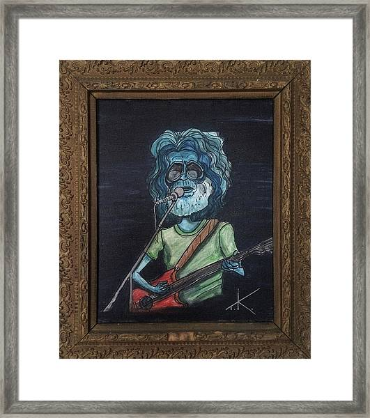 Alien Jerry Garcia Framed Print