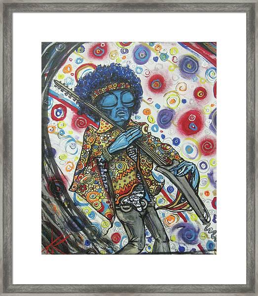 alien Jimi Hendrix Framed Print