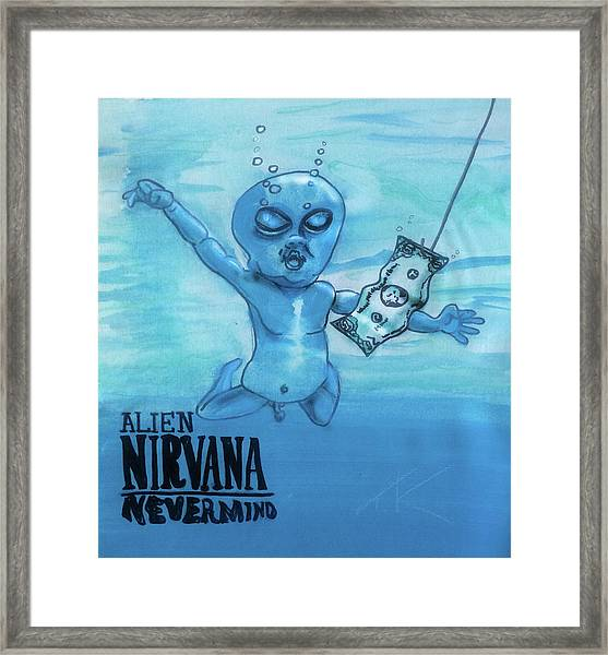 Alien Nevermind Framed Print