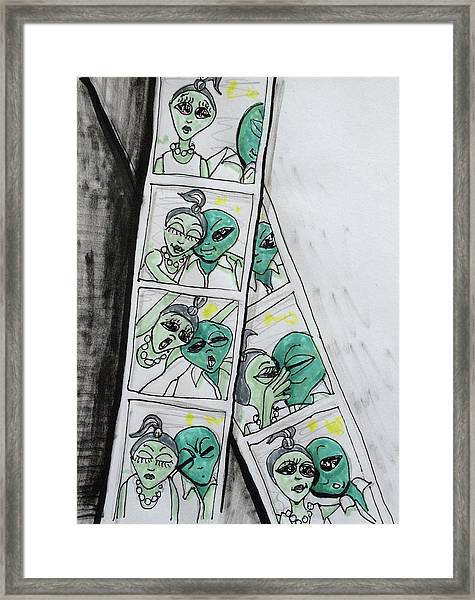 alien Photo Booth  Framed Print