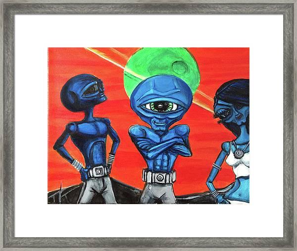 Alien Posse Framed Print