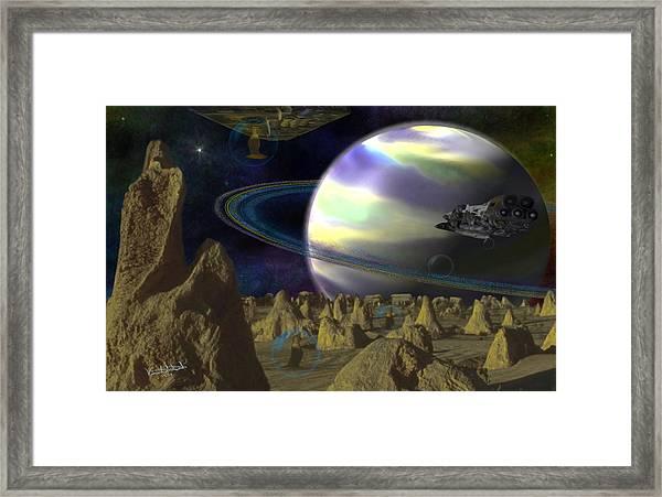 Alien Repose Framed Print