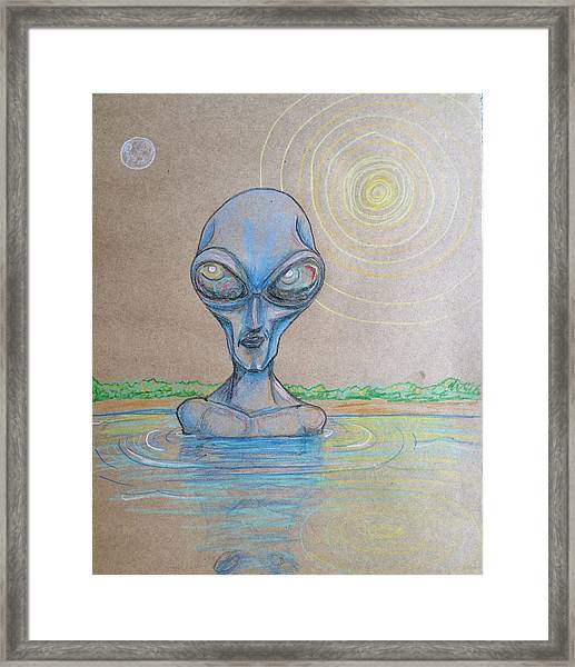 Alien Submerged Framed Print