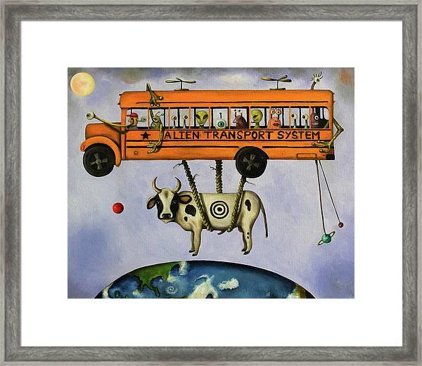 Alien Transport System Framed Print