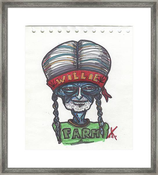 alien Willie Nelson Framed Print