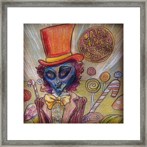 Alien Wonka And The Chocolate Factory Framed Print