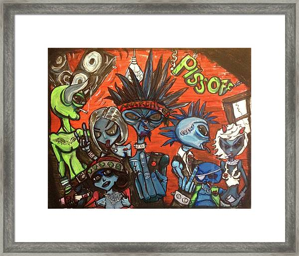 Aliens With Nefarious Intent Framed Print