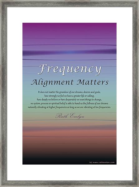 Alignment Matters Framed Print