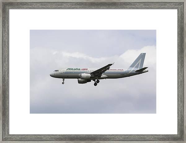 Alitalia Airbus 320 Framed Print