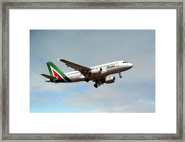 Alitalia Airbus A319-112 Framed Print