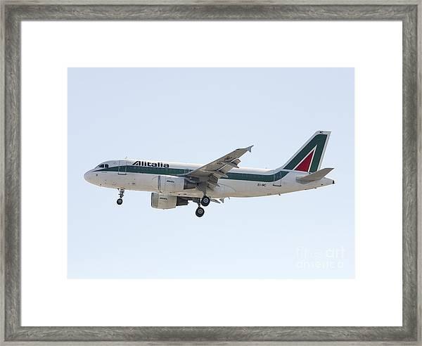 Alitalia Airbus A319 Framed Print