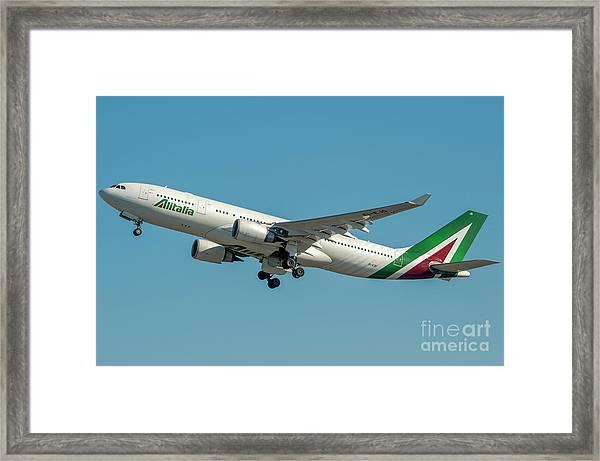 Alitalia Airbus A330-200 Framed Print