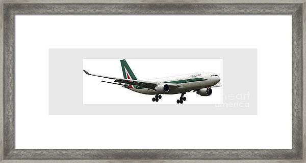 Alitalia, Airbus A330-202. Framed Print