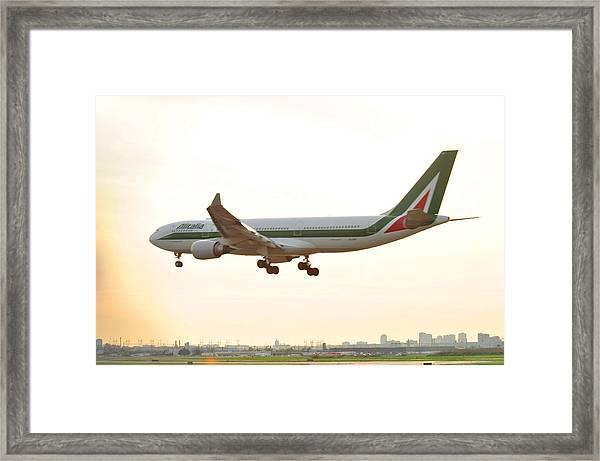 Alitalia Framed Print