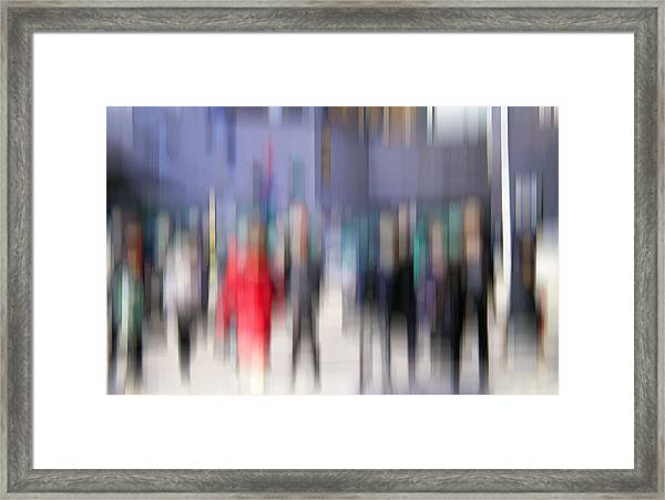 Alive In The City 3 - Going To The Train Framed Print