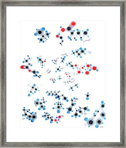 Alkanes And Friends Framed Print