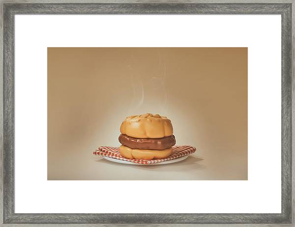 All-american Burger Framed Print