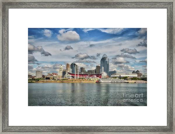 Framed Print featuring the photograph All American City 2 by Mel Steinhauer