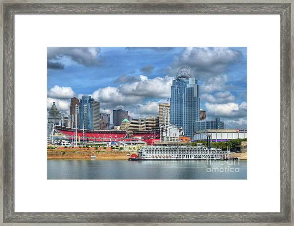 Framed Print featuring the photograph All American City by Mel Steinhauer