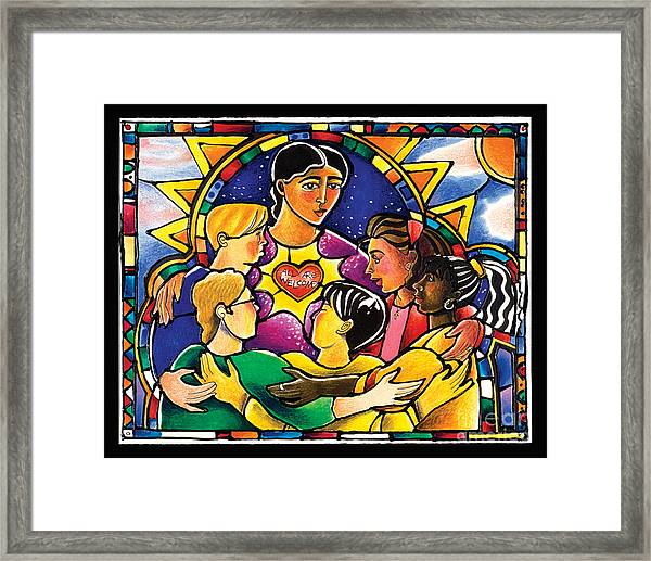 All Are Welcome - Mmaaw Framed Print